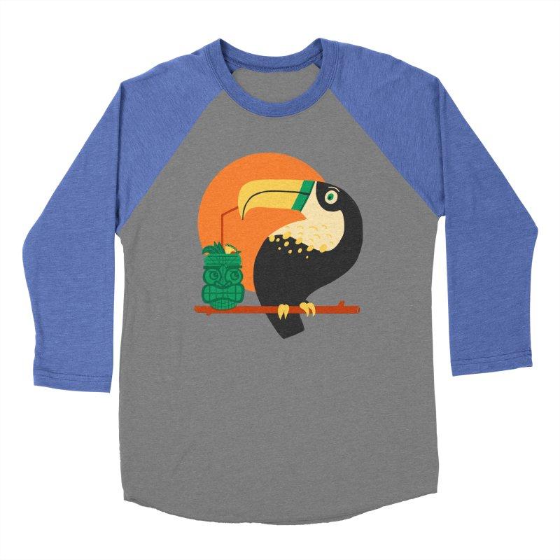 Drunk Toucan Women's Baseball Triblend Longsleeve T-Shirt by Katie Lukes