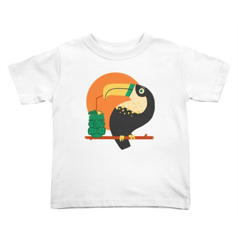 Drunk Toucan Kids Toddler T-Shirt by Katie Lukes