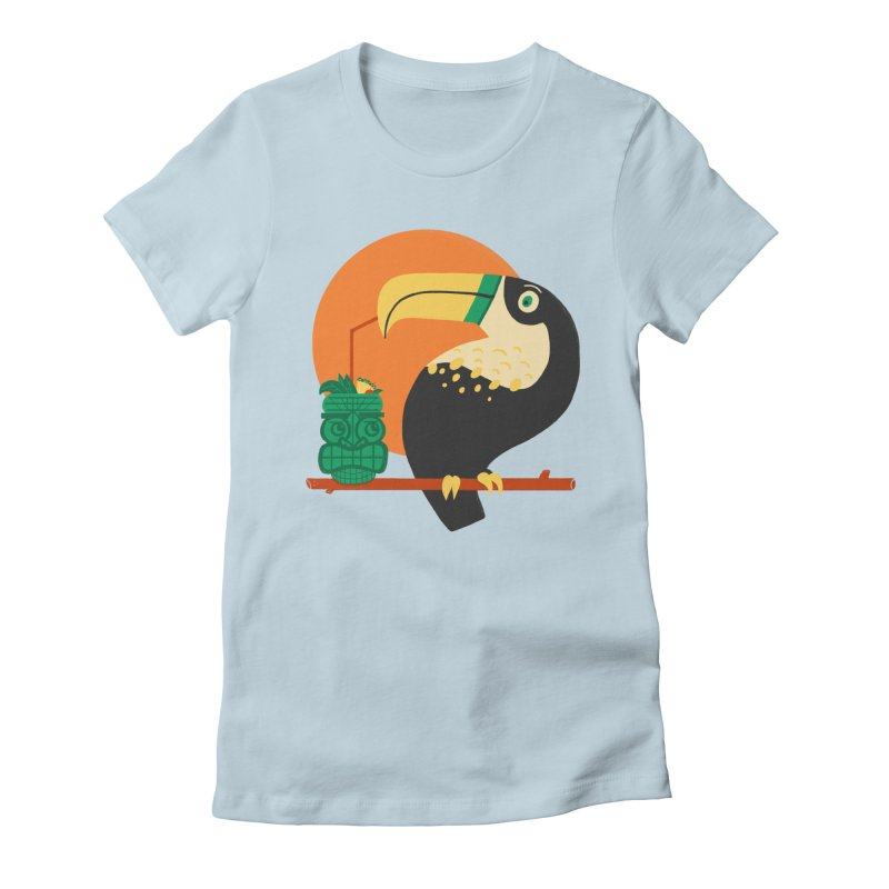 Drunk Toucan Women's Fitted T-Shirt by Katie Lukes