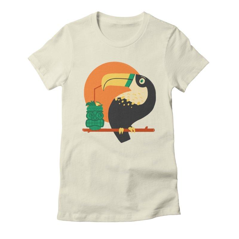 Drunk Toucan Women's T-Shirt by Katie Lukes