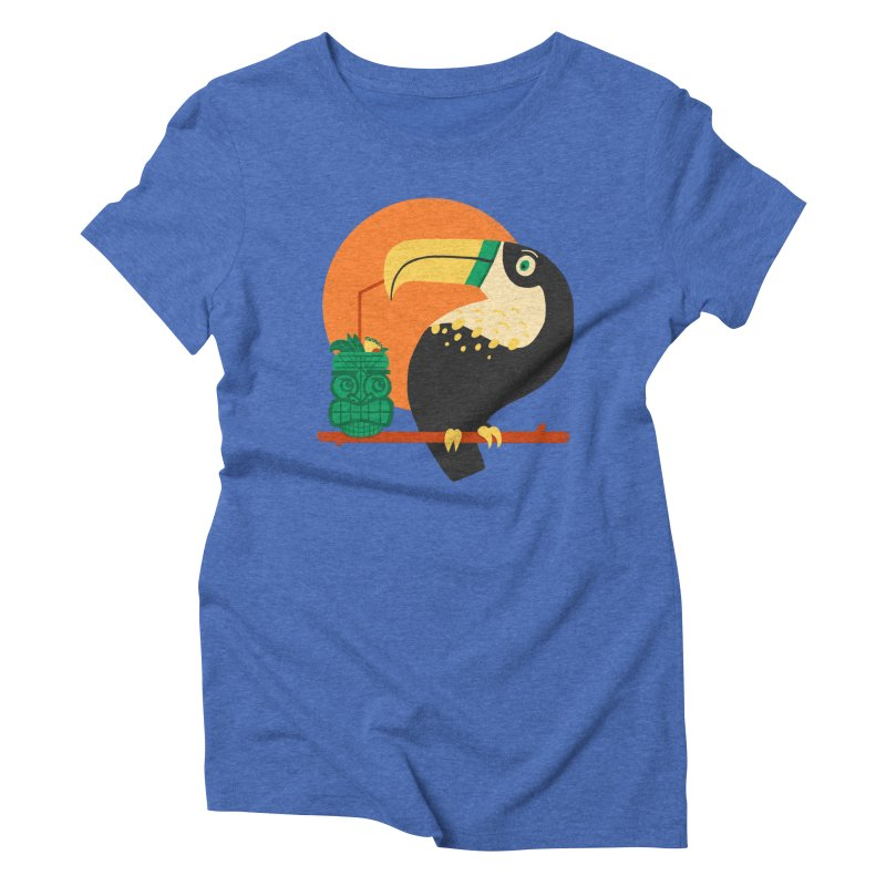 Drunk Toucan Women's Triblend T-shirt by Katie Lukes