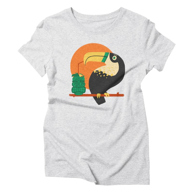 Drunk Toucan Women's T-Shirt by Katie Lukes