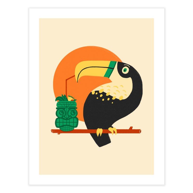 Drunk Toucan Home Fine Art Print by Katie Lukes