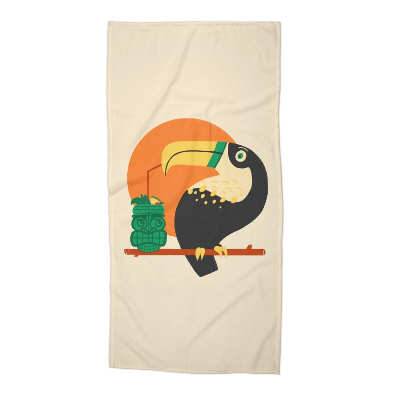 Drunk Toucan Accessories Beach Towel by Katie Lukes