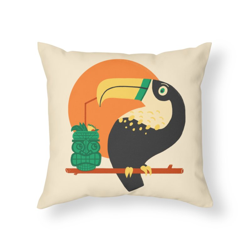 Drunk Toucan Home Throw Pillow by Katie Lukes