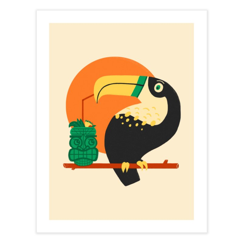 Drunk Toucan Home Fine Art Print by Katie Lukes