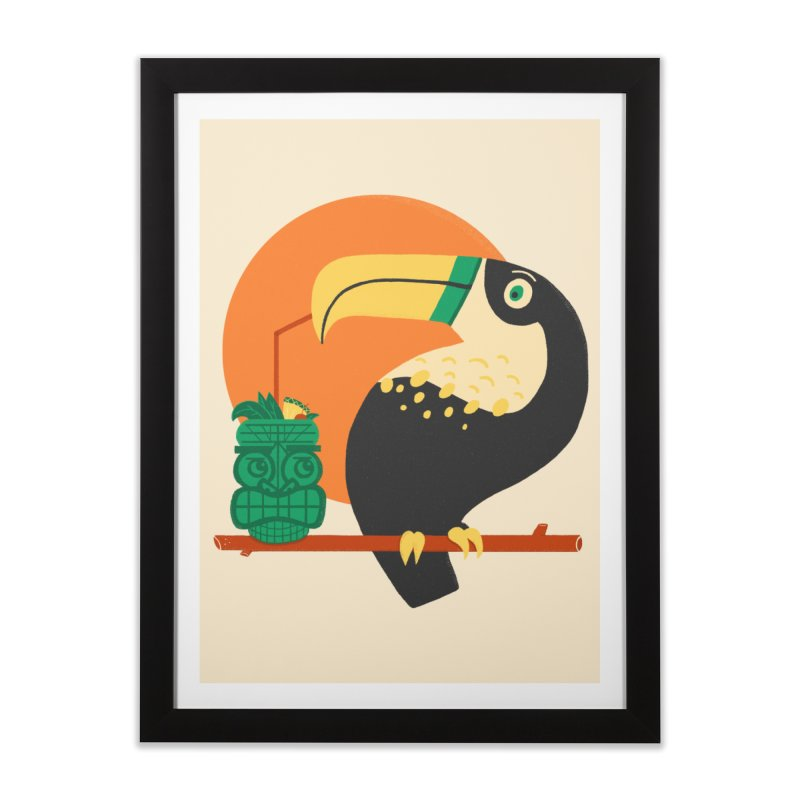 Drunk Toucan Home Framed Fine Art Print by Katie Lukes