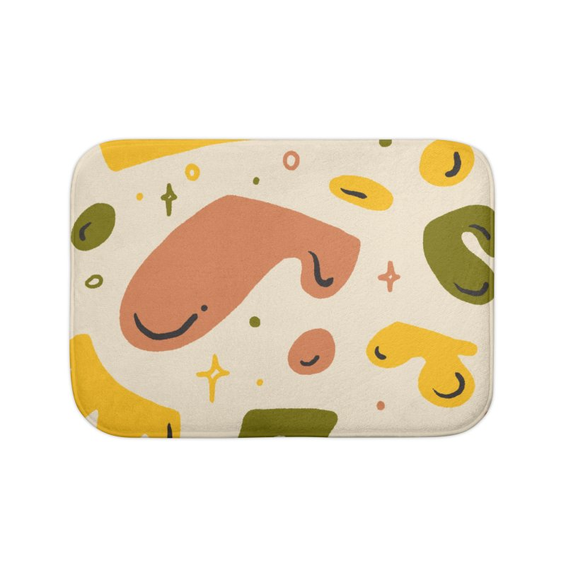 Blob Party Home Bath Mat by Katie Lukes