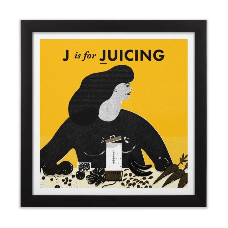 J Home Framed Fine Art Print by Katie Lukes