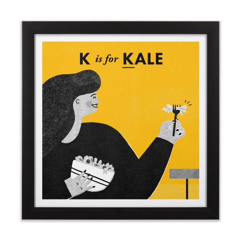 K Home Framed Fine Art Print by Katie Lukes
