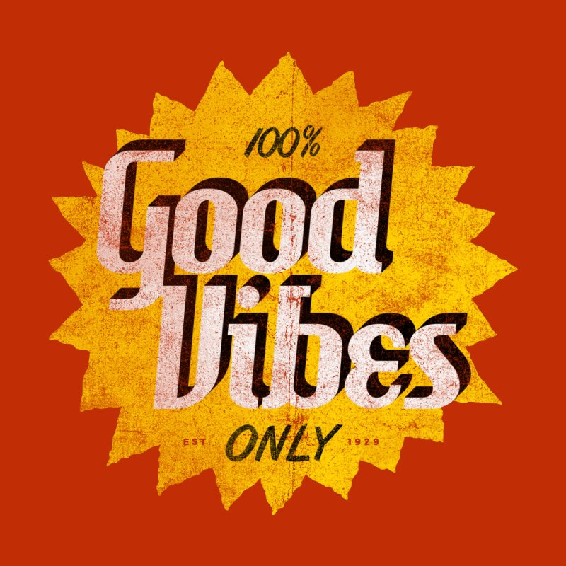 Good Vibes Only Men's Tank by Katie Lukes