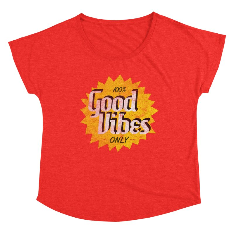 Good Vibes Only Women's Scoop Neck by Katie Lukes