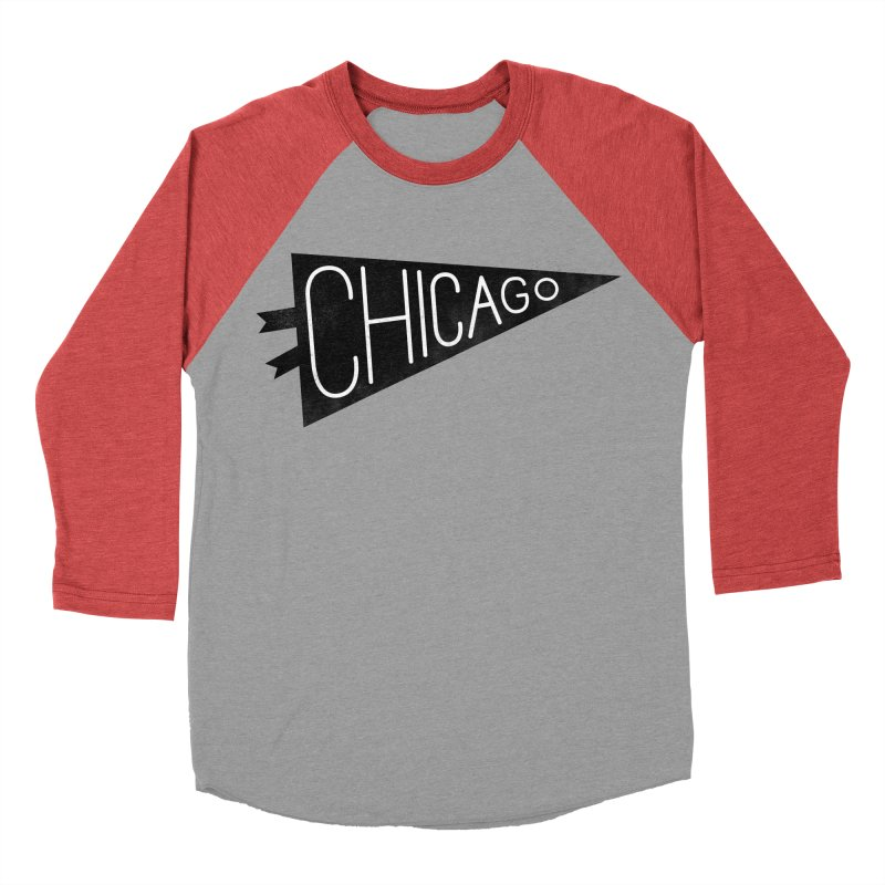Chicago Pride Men's Baseball Triblend T-Shirt by Katie Lukes