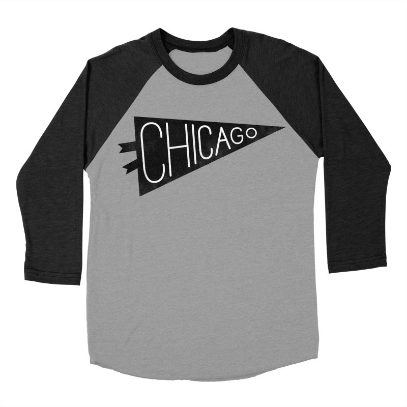 Chicago Pride Men's Baseball Triblend Longsleeve T-Shirt by Katie Lukes