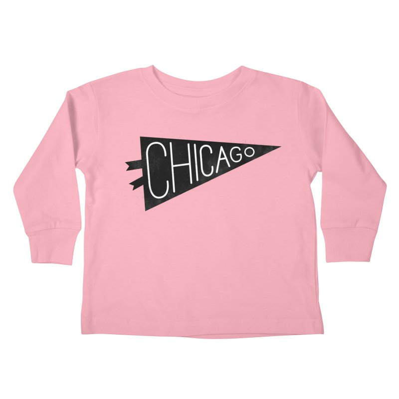Chicago Pride Kids Toddler Longsleeve T-Shirt by Katie Lukes