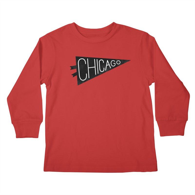 Chicago Pride Kids Longsleeve T-Shirt by Katie Lukes