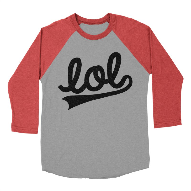 lol Women's Baseball Triblend Longsleeve T-Shirt by Katie Lukes