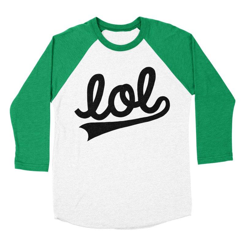 lol Men's Baseball Triblend Longsleeve T-Shirt by Katie Lukes