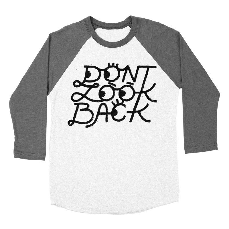 Don't Look Back Men's Baseball Triblend Longsleeve T-Shirt by Katie Lukes