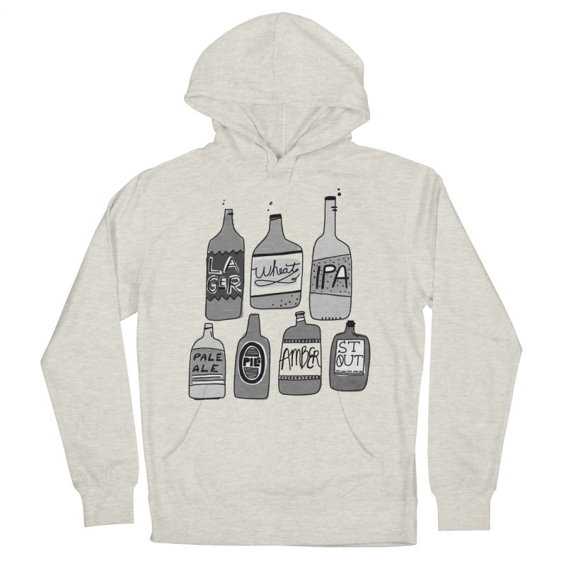 Beer Family Men's French Terry Pullover Hoody by Katie Lukes
