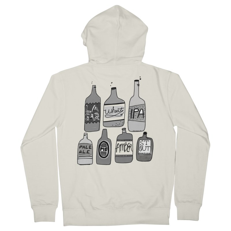 Beer Family Men's French Terry Zip-Up Hoody by Katie Lukes