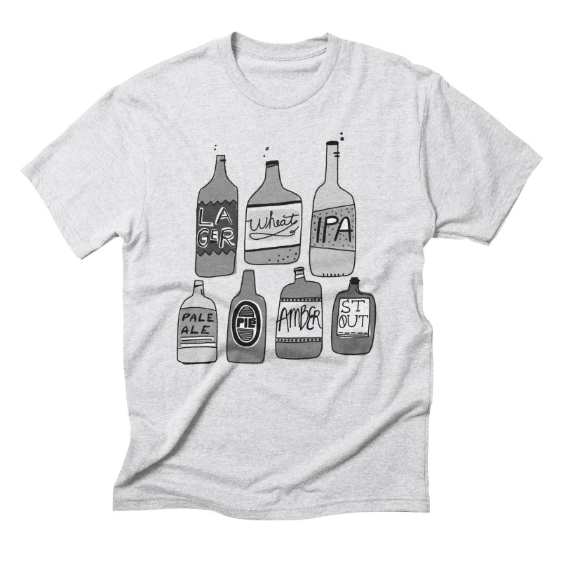 Beer Family Men's T-Shirt by Katie Lukes