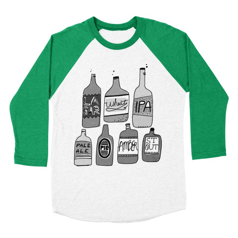 Beer Family Men's Baseball Triblend Longsleeve T-Shirt by Katie Lukes