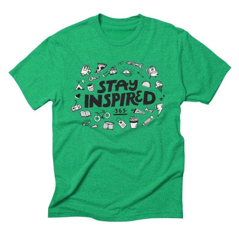 Stay Inspired Men's Triblend T-Shirt by Katie Lukes