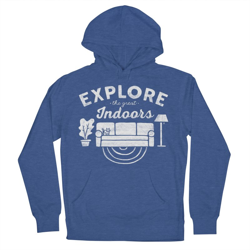 The Great Indoors Men's French Terry Pullover Hoody by Katie Lukes