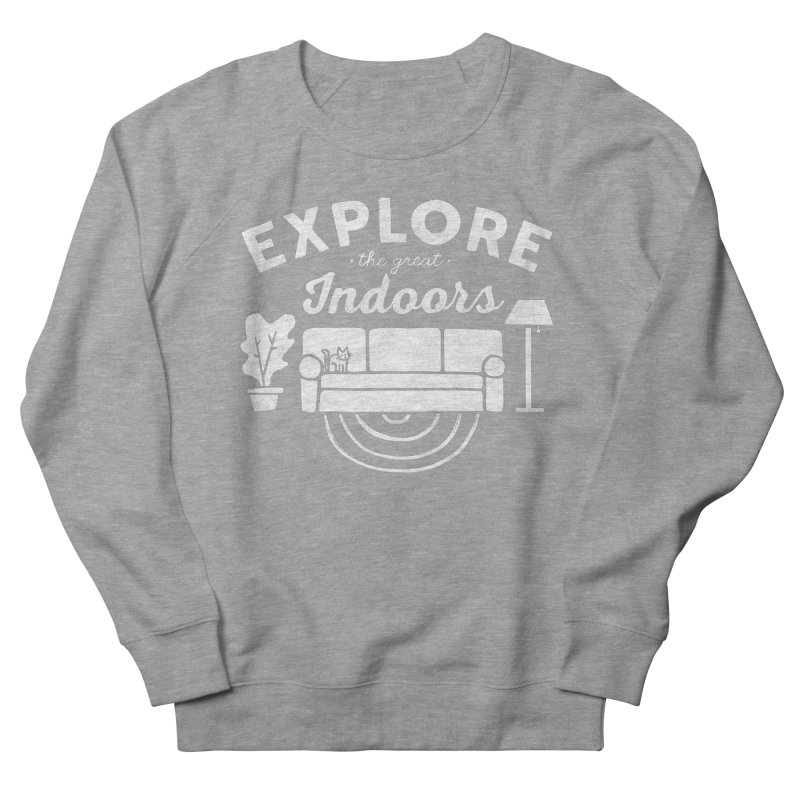 The Great Indoors Men's French Terry Sweatshirt by Katie Lukes
