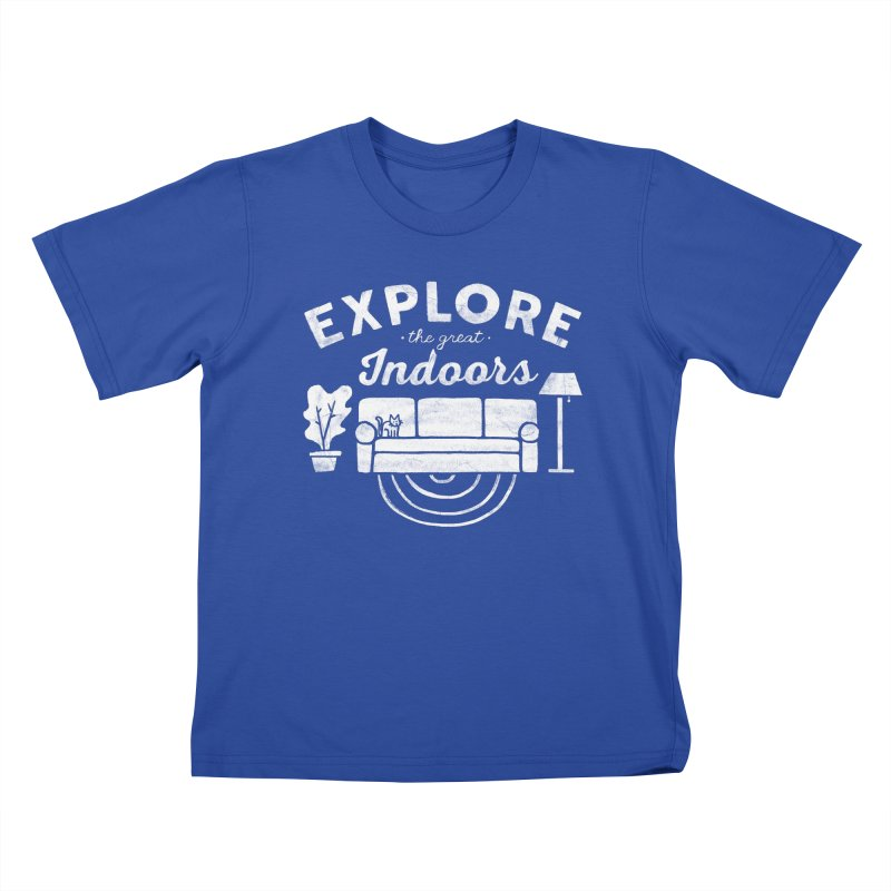 The Great Indoors Kids T-shirt by Katie Lukes
