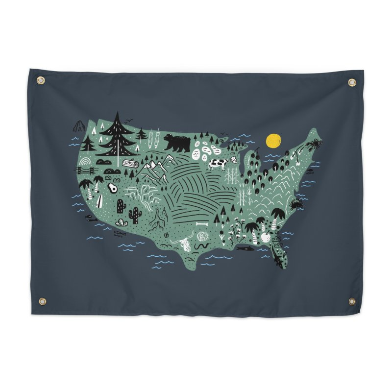USA Home Tapestry by Katie Lukes