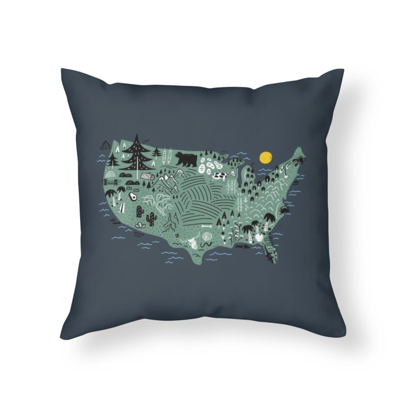 USA Home Throw Pillow by Katie Lukes