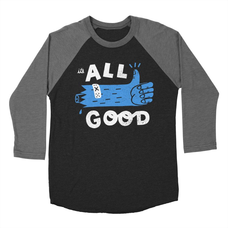It's All Good Women's Baseball Triblend Longsleeve T-Shirt by Katie Lukes