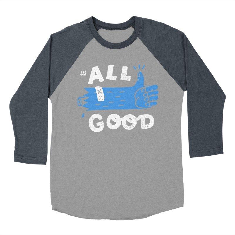 It's All Good Women's Baseball Triblend Longsleeve T-Shirt by Katie Lukes