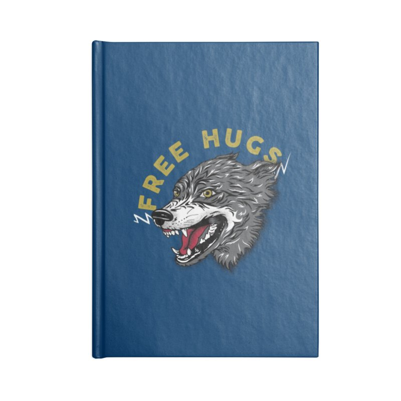 FREE HUGS Accessories Lined Journal Notebook by Katie Rose's Artist Shop