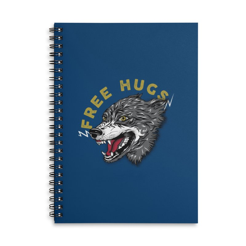 FREE HUGS Accessories Lined Spiral Notebook by Katie Rose's Artist Shop
