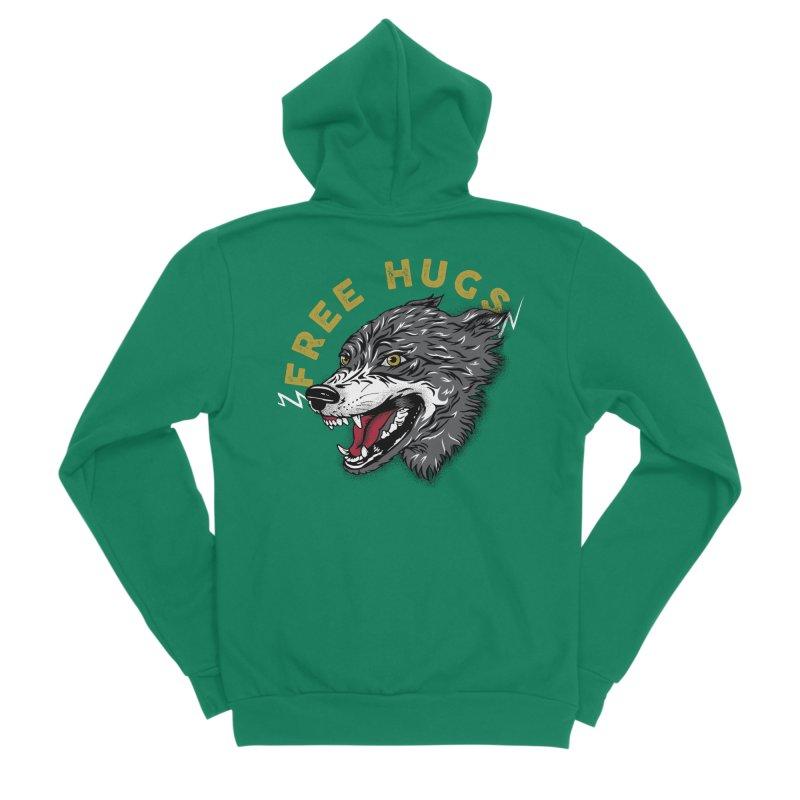 FREE HUGS Women's Sponge Fleece Zip-Up Hoody by Katie Rose's Artist Shop