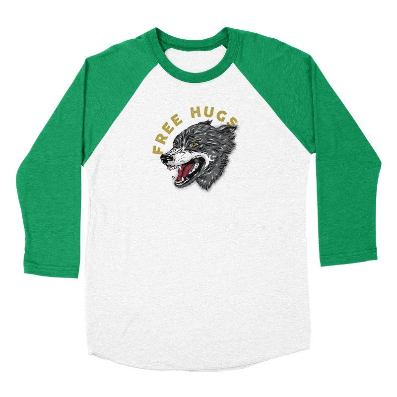 FREE HUGS Men's Baseball Triblend Longsleeve T-Shirt by Katie Rose's Artist Shop