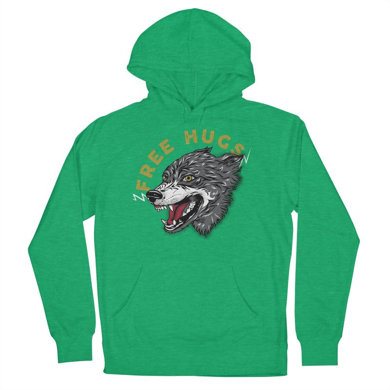 FREE HUGS Men's French Terry Pullover Hoody by Katie Rose's Artist Shop