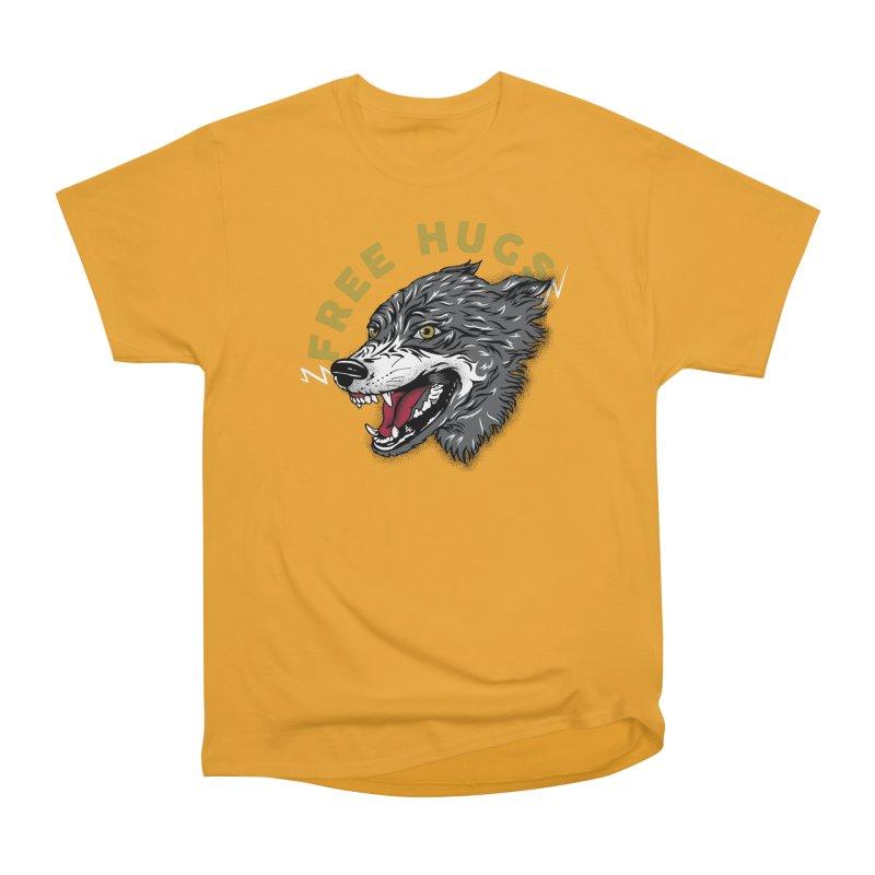 FREE HUGS Women's Heavyweight Unisex T-Shirt by Katie Rose's Artist Shop