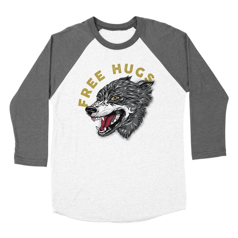 FREE HUGS Women's Baseball Triblend Longsleeve T-Shirt by Katie Rose's Artist Shop