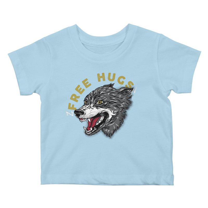FREE HUGS Kids Baby T-Shirt by Katie Rose's Artist Shop