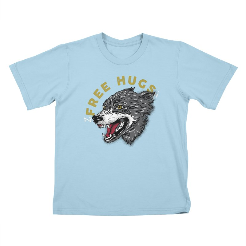 FREE HUGS Kids T-Shirt by Katie Rose's Artist Shop