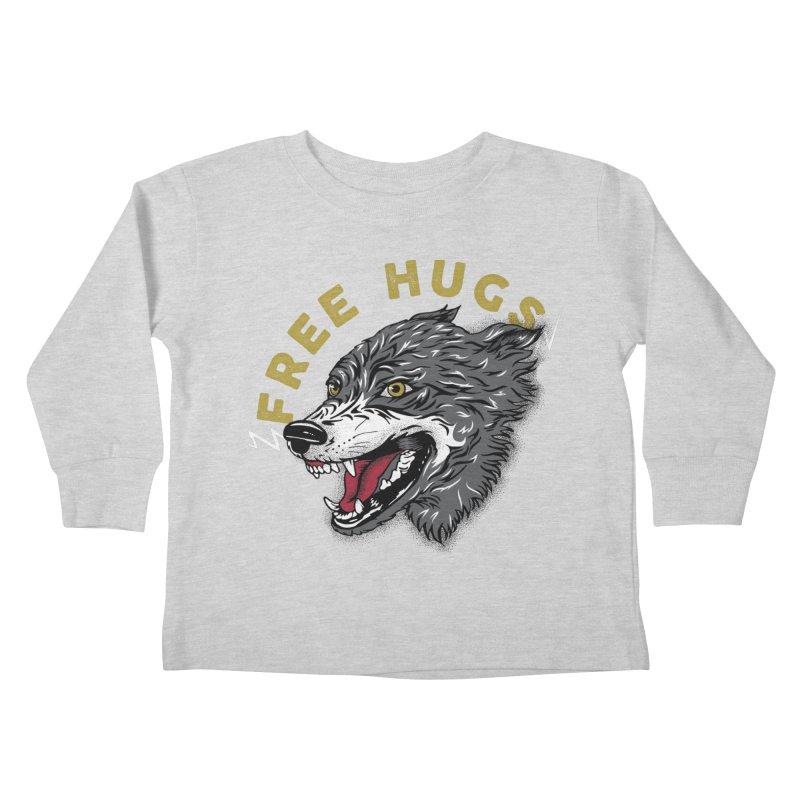 FREE HUGS Kids Toddler Longsleeve T-Shirt by Katie Rose's Artist Shop