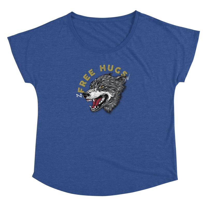 FREE HUGS Women's Dolman Scoop Neck by Katie Rose's Artist Shop
