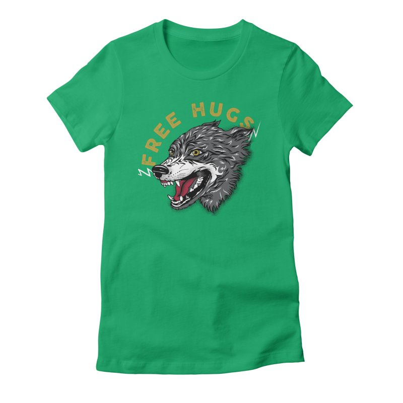 FREE HUGS Women's Fitted T-Shirt by Katie Rose's Artist Shop