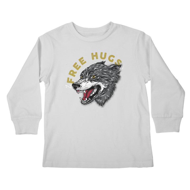 FREE HUGS Kids Longsleeve T-Shirt by Katie Rose's Artist Shop
