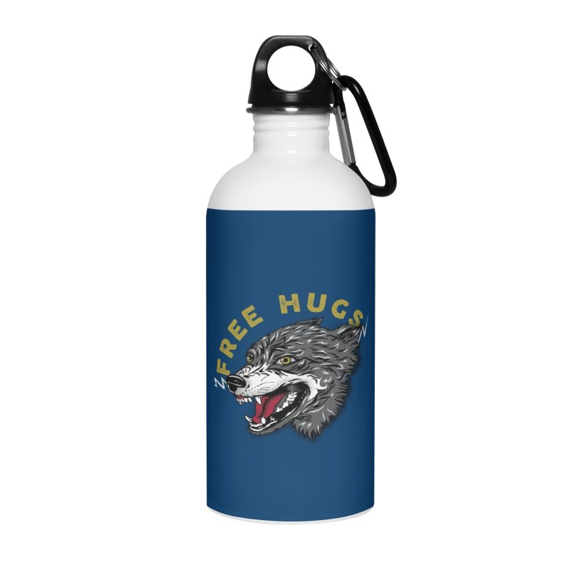 FREE HUGS Accessories Water Bottle by Katie Rose's Artist Shop