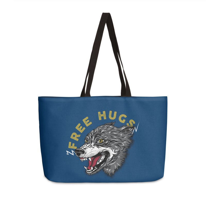 FREE HUGS Accessories Weekender Bag Bag by Katie Rose's Artist Shop
